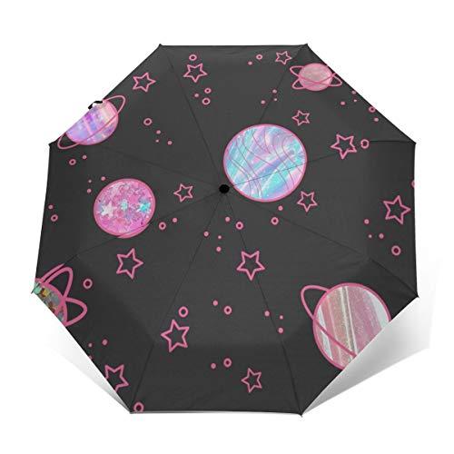 Das Universum ist voller Glitzer, Regenschirm, kompakt und windstabil, faltbar, Sonnenschirm, Herren, Damen, Reisen