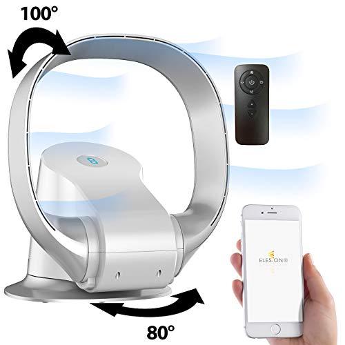 Sichler Haushaltsgeräte Ventilator ohne Rotor: Rotorloser 360°-Ventilator, WLAN, App, superleise, 26 Watt (Ventilator Alexa)