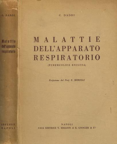Malattie dell'apparato respiratorio (tubercolosi esclusa).