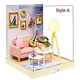 Gpzj DIY 3D Puppenhaus, Holz Miniatur Möbel Kit Beste Weihnachten Geburtstagsgeschenke für Kinder...