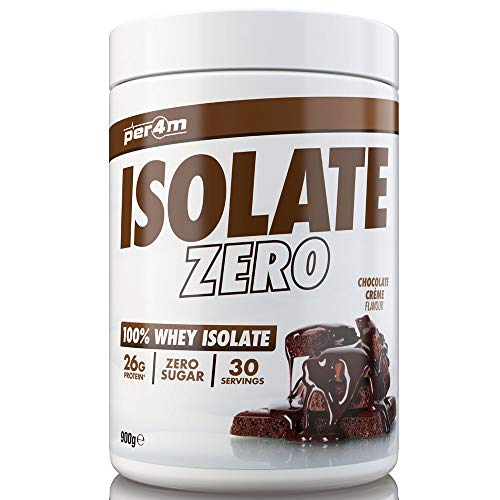 per4m Zero Isolate Whey Protein, Double Chocolate, 30 Servings 100% Whey Isolate Muscle Building Protein