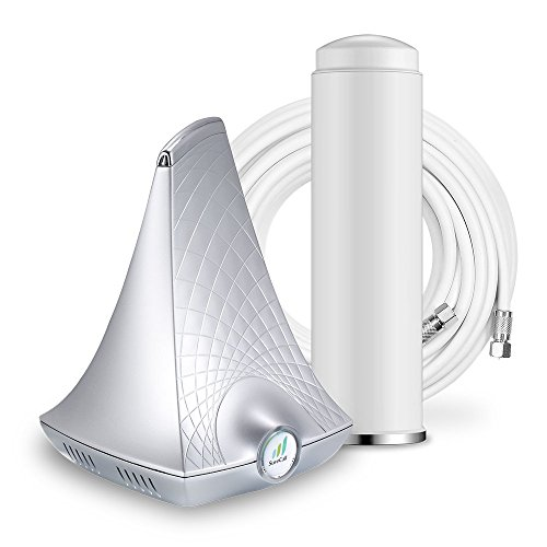 SureCall Flare Cell Phone Signal Booster Kit for Working from Home | Integrated indoor antenna for easier install | Covers up to 2,500 sq ft | Boosts 4G LTE for all Carriers