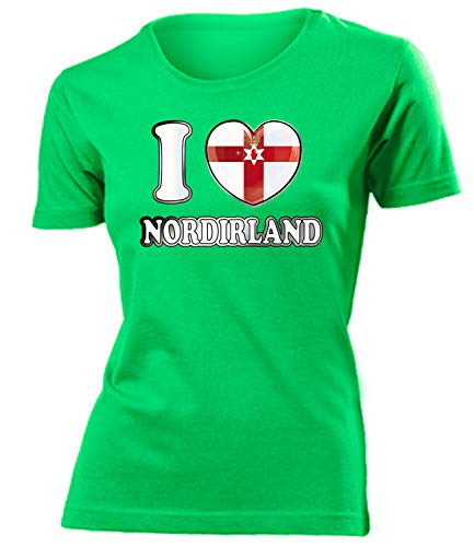 Nordirland Northern Ireland Fanshirt Fussball Fußball Trikot Look Jersey Damen Frauen t Shirt Tshirt t-Shirt Fan Fanartikel Outfit Bekleidung Oberteil Hemd Artikel