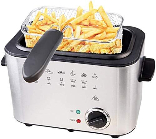 HZWLF 220V 1200W Elektrische Friteuse Haushalt Rauchfreie Multifunktionsfritteuse Hühnerbein Pommes Frites Fritteuse Luft Mini Friteuse Küchenfritteuse
