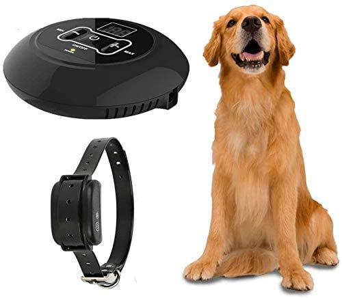 Jingchen Wireless Dog Fence, Pet Containment System, Rechargeable and Waterproof Shock Collar - Electric Pet Fence for Stubborn Dogs - Large Coverage Area up to 5 Acres - 100% Safe