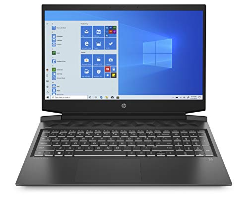 HP - Gaming Pavilion 16-a0019nl Notebook, Intel Core i7-10750H, RAM 16 GB, SSD 512 GB, NVIDIA GeForce GTX 1650Ti 4 GB, Windows 10 Home, Schermo 16.1' FHD IPS, Webcam, USB-C, HDMI, RJ-45, Nero