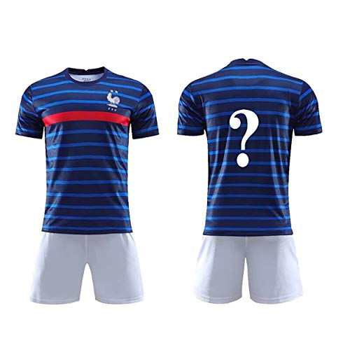 WWLONG Geschikt voor Frans huisuniform 10.MBAPPE kinderen training 7.GRIEZMANN voetbalsportkleding, volwassen pakken kunnen worden aangepast