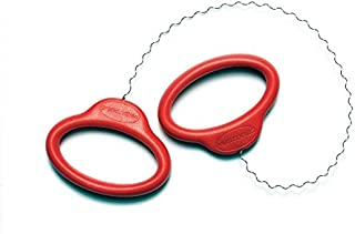 Mudwire - Red Handle Curly Cutoff Tool for Pottery Wheel and Clay Artists - Sherrill Mudtools
