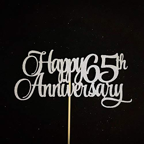 Gelukkige 65-jarig jubileum Topper, Jubileum Cake Topper, Huwelijk Celebration Cake Topper, 65 Jaar Jubileum Centerpiece, Number Sign, 65