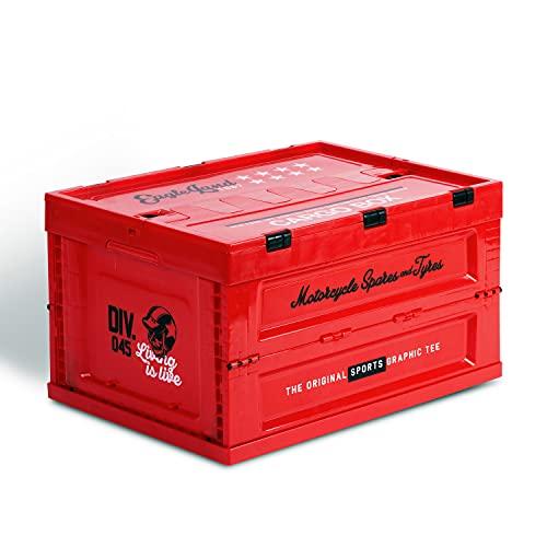 ViperIMR Caja De Almacenamiento Plegable Al Aire Libre, Contenedor Organización Plástico para El Hogar 14 Galones / 52L, Artículos Diversos Zapatos, Libro, Utensilios Cocina, Organizador Juguetes