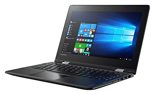 Lenovo Yoga 310 29,5 cm (11,6 Zoll HD IPS Touch) Convertible Notebook (Intel Celeron N3350, 2GB RAM, 32GB eMMC, Intel HD Grafik 500, Windows 10 Home) schwarz