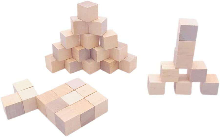 Toyvian 36pcs Wood Finally resale start Square for Cube Unfinished Blocks Classic