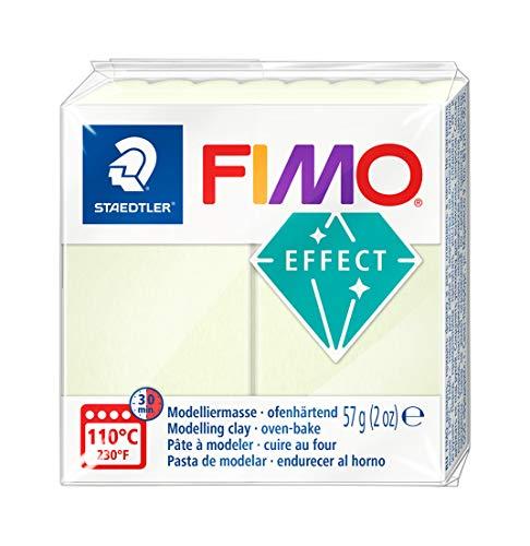 Staedtler 8020-04 - Fimo Effect Normalblock, 57 g, nachtleucht