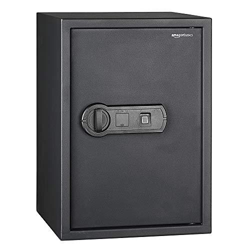Amazon Basics - Biometrischer Tresor mit Fingerabdruck-Verschlusssystem, 50 l