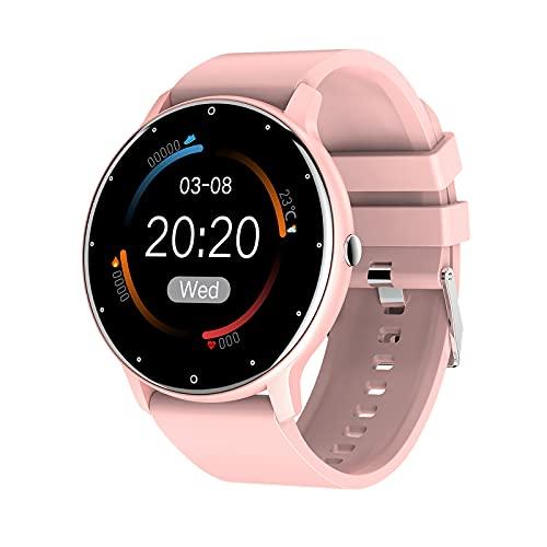 prasku Reloj Inteligente, rastreador de Actividad, rastreador de Actividad con Pantalla táctil de 1,28 ', Reloj Inteligente Resistente al Agua para Hombres y - Rosa