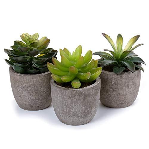 ComSaf Cactus Artificial Talla Pequena Plasticas Paquete de 3, Decorativas Suculentas Plantas Artificiales Decoracion para Mesa de Comedor Sala de Estar Idea Regalo para Cumpleanos Boda Navidad
