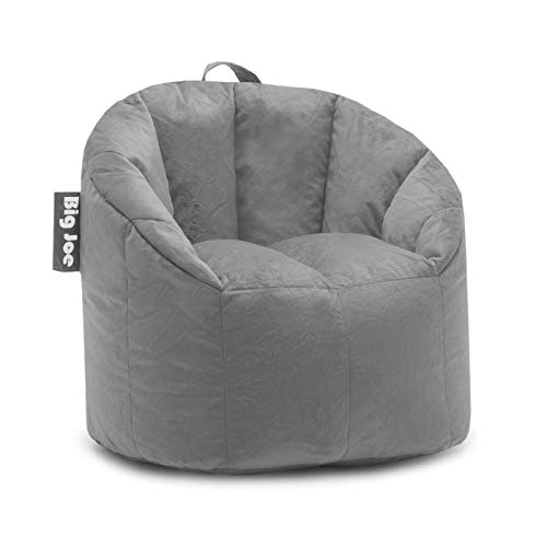 Big Joe, 0 Milano Gray Plush Bean Bag Chair, Gray