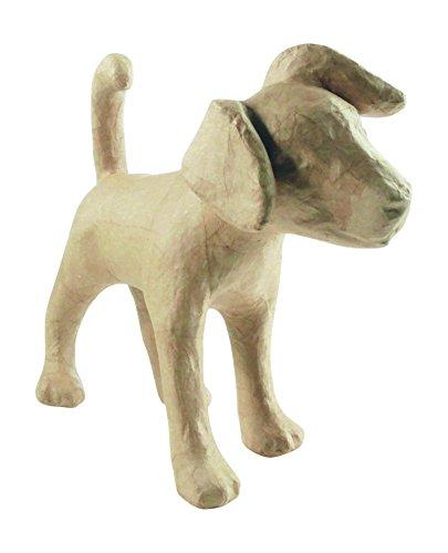 décopatch Mache Large Dog, 41x14x35 cm - Brown