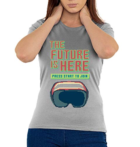 Desconocido The Future Is Here Virtual Reality Pixel Art Camiseta Mujer XX-Large