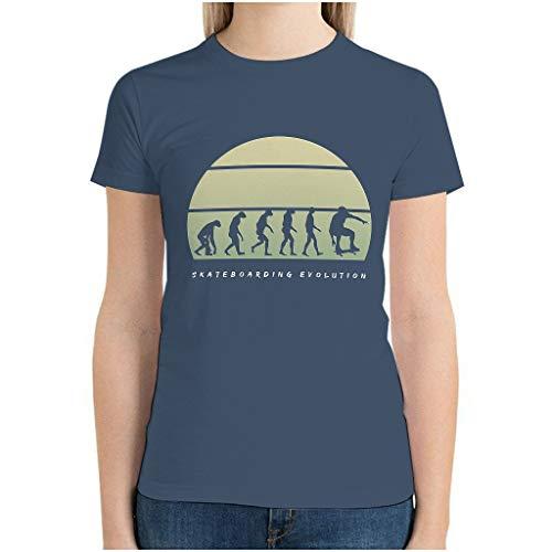 XunYun Skateboarding Evolution - Camiseta para novia o familia