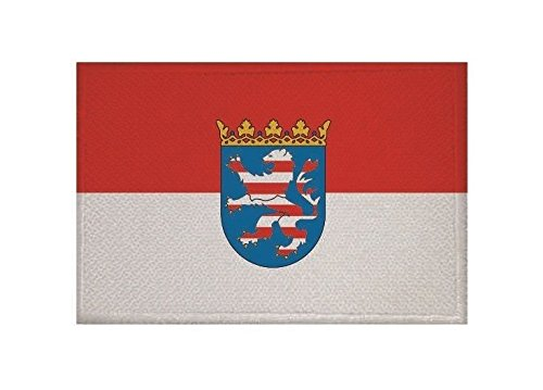 U24 Aufnäher Hessen Fahne Flagge Aufbügler Patch 9 x 6 cm