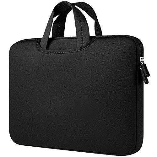 Funda para Portátiles,11-11.6 Pulgadas Maletín con Asa para Ordenador Portátil Notebook - Ultrabook Tablet de Maleta Bolsa de Transporte,Negro 1