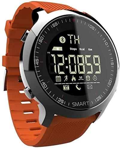 Reloj inteligente deportivo de larga duración en modo de espera, para nadar, IP68, sumergible 5 ATM, Bluetooth, reloj B.