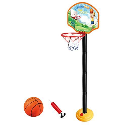 YuanDian Kinder Basketballkorb Portable Verstellbarer Basketballbrett 110-175cm Basketballständer Drinnen Outdoor Garten Freistehend Mini Basketballkörbe Boards Basketballanlage Set 110cm 1 Ball