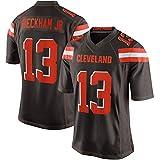 # 13 Odell Beckham Jr. Maillot de Football américain Cleveland Browns, Unisexe Rugby Jersey Casual Sport T-Shirt à Manches Courtes Fans Sweatshirt-Brown-XXXL(195+)