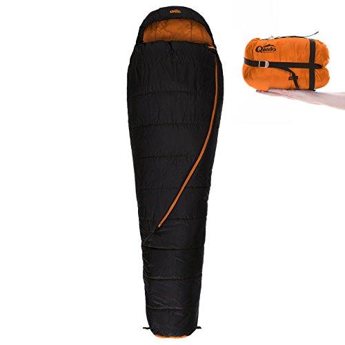 Qeedo Hitazo Mumienschlafsack Campingschlafsack, Kompakt, Leicht, Kleines Packmaß, Für Outdoor und Camping