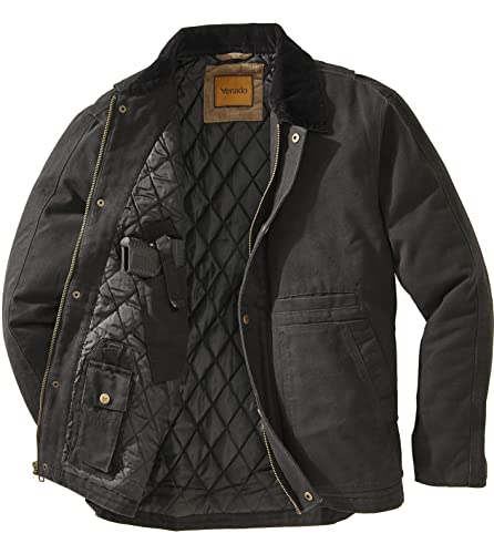 Venado Concealed Carry Jacket for Men - Heavy Duty Canvas -...