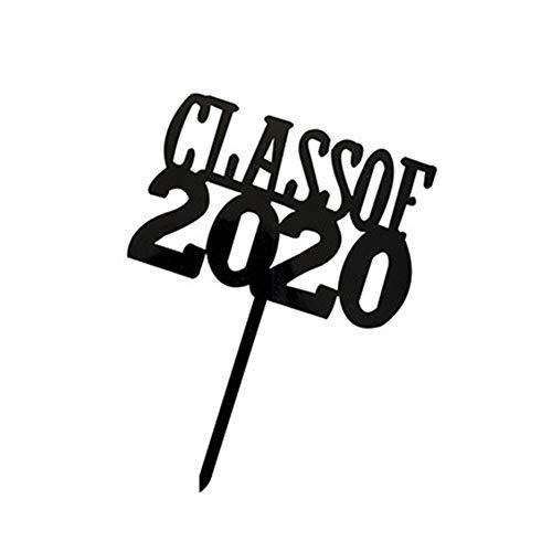 MAKG Cake Topper, 2020 Graduation Season Acryl Nieuwe Bachelor Hoed Cake Insert Kaart, Geschikt voor Graduation Party Supplies
