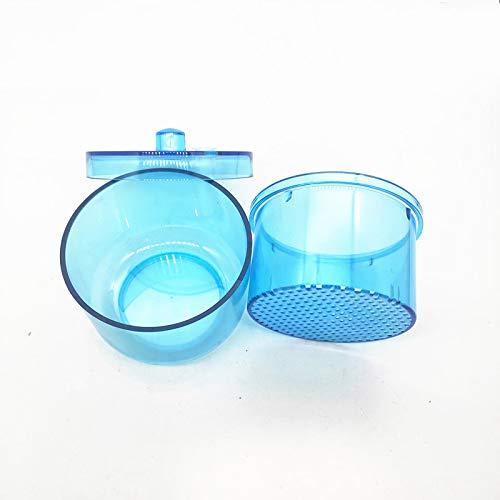 CXD Récipient stérilisateur, manucure pédicure Alcool Magasin Marque Verre Désinfectant boîtes Rondes Nail Art Les Outils Salon stérilisants boîte en Plastique,Bleu