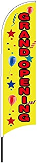 FixtureDisplays Grand Opening Banner Flag Advertising Pole Outdoor Retail Open Feather Flag12013 12013