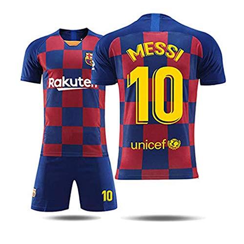 GSPURS Barcelona # 10 Messi Fußball Trikot Männer-Sport Fußball Trikot für Jungen Trikots Kinder Männer Frauen Fußballtraining-1-M