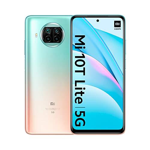 "Oferta de Xiaomi Mi 10T Lite 5G - Smartphone 6+64GB, 6,67"" FHD+, Snapdragon 750G, 4x Cámara de 64 MP con IA, 4820 mAh, Rose Gold Beach, con Alexa Hands-Free"