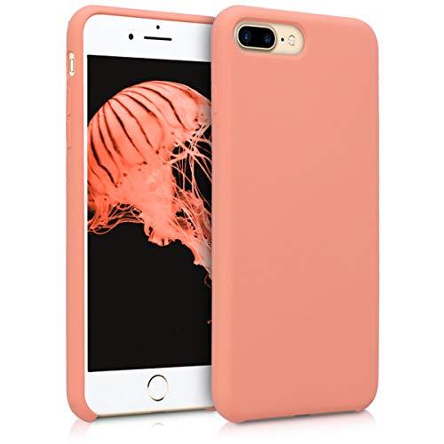 kwmobile Cover Compatibile con Apple iPhone 7 Plus / 8 Plus - Cover Custodia in Silicone TPU - Back Case Protezione Cellulare Corallo