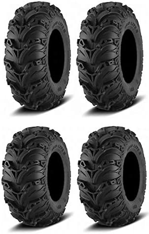 Complete Set: ITP Mud Lite II Tires 12 Front Baltimore Dallas Mall Mall Rear 25 x 8 -