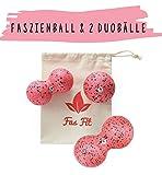 Faszienball Duo Set: Einzel- und 2X Duoball