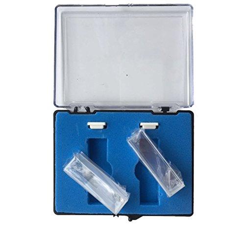 Cubeta de cuarzo con tapa de PTFE, 2 pcs estándar de 10 mm 3,5 ml espectrómetro celular