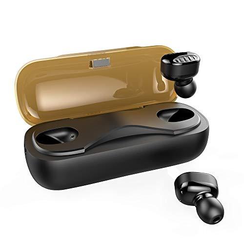 Micrófonos Auriculares Inalambricos Bluetooth 5.0, Auriculares Bluetooth Deportivos IPX7 Impermeable, 4H Autonomía, Auriculares con Micrófonos para iPhone Android Mpow/Seneo Inalámbricos, black