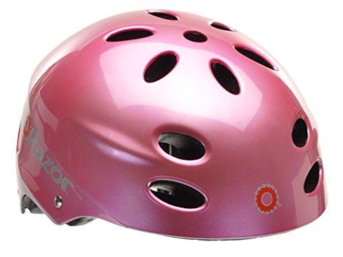 Razor V-17 Youth Muli-Sport Helmet, Gloss Pink, 97983