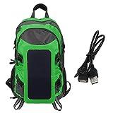 Sac à dos à panneau solaire, bandoulière en S pliable avec chargeur de panneau solaire, sac à dos de...