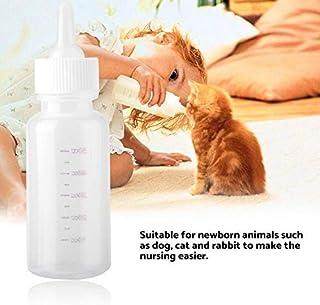 HEEPDD Pflegeflasche für Katzen, 50ml Neugeborene Tierpflegeset Milchaufnahmeflasche mit..
