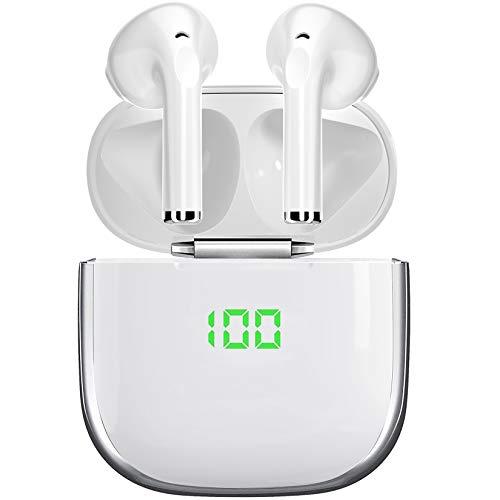 Auriculares Inalámbricos Bluetooth, Bluetooth 5.1 Auriculares Deporte HiFi mejorados,con Estuche de Carga y micrófono Integrado Incorporado,Carga rápida y Resistente al Agua In-Ear Auriculares