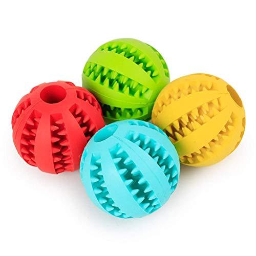 NYKK Weiche Haustier Hund Spielzeug Spielzeug Lustige Interaktive Elastizität Ball Hund Kauspielzeug Für Hundezahn Clean Ball Food Extra-Tough Gummi Ball Hund (Farbe: Gelb, Größe: 7cm) lalay