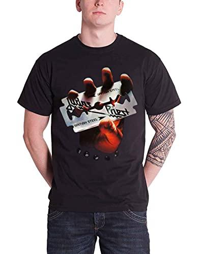 Rock Off Judas Priest British Steel Camiseta, Negro (Schwarz - Schwarz), XX-Large para Hombre