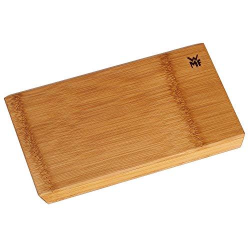 WMF Edge Schneidebrett, klein, 24 x 16 x 1,5 cm, Bambus natur, Holzbrett rechteckig, Küchenbrett klingenschonend, Servierbrett mit schrägen Kanten (Generalüberholt)