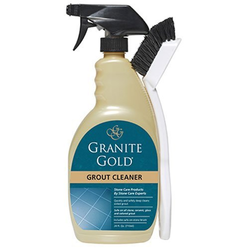 Granite Gold Grout Cleaner And Scrub Brush - Acid-Free Tile And Grout Cleaning For Dirt, Mildew, Mold - 24 Ounces (10 pack)