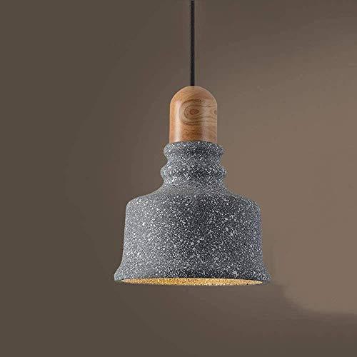 E27 Base Edison Suspensión Luces para el dormitorio de la barra Cabeza individual de la cabecera pequeña LightingVIntage Industrial Colgante Lámpara Nórdica Creativa Cemento Chandelier Luz Lámpara col